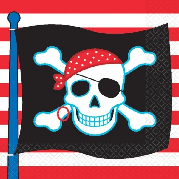 Amscan Napkins - Pirate Party