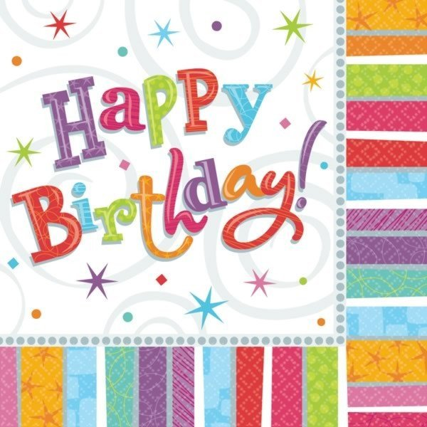 Amscan Napkins - Radiant Birthday