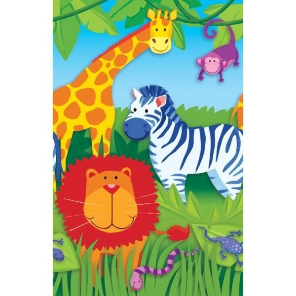 Amscan Paper Tablecover - Jungle Animals