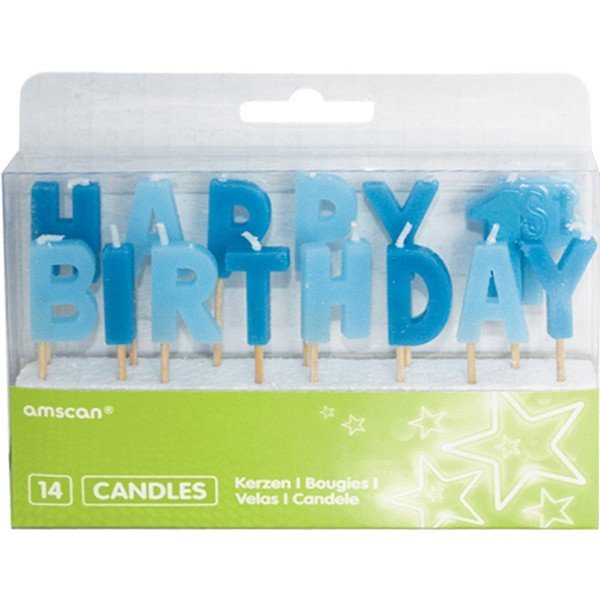 Amscan Pick Candles - 1st Birthday Boy