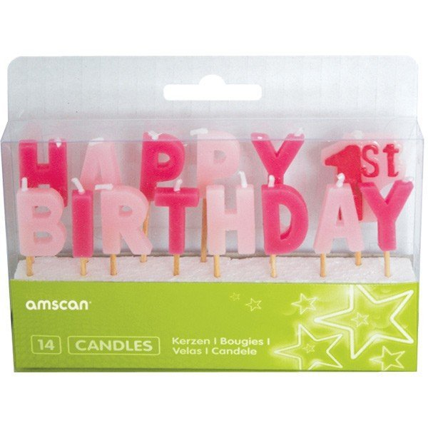 Amscan Pick Candles - 1st Birthday Girl