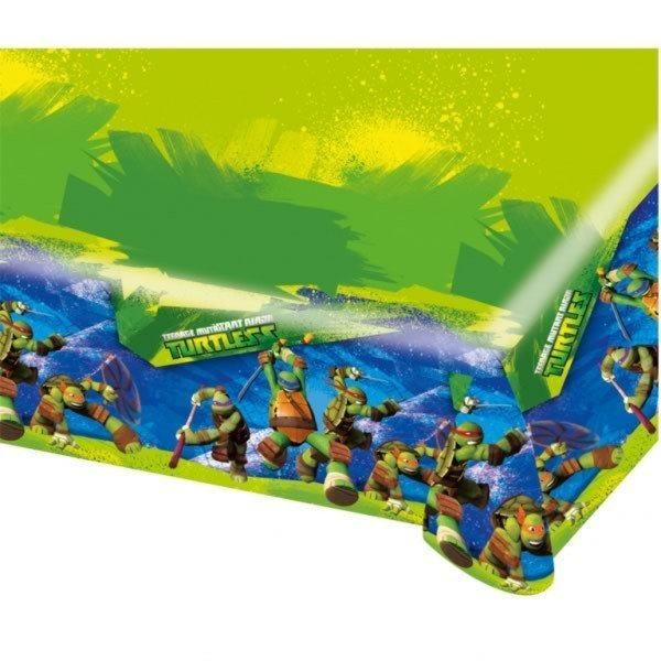 Amscan Plastic Tablecover - TMNT