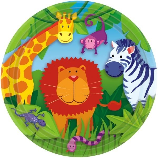 Amscan Plates - Jungle Animals