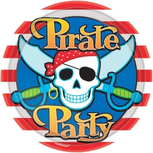 Amscan Plates - Pirate Party