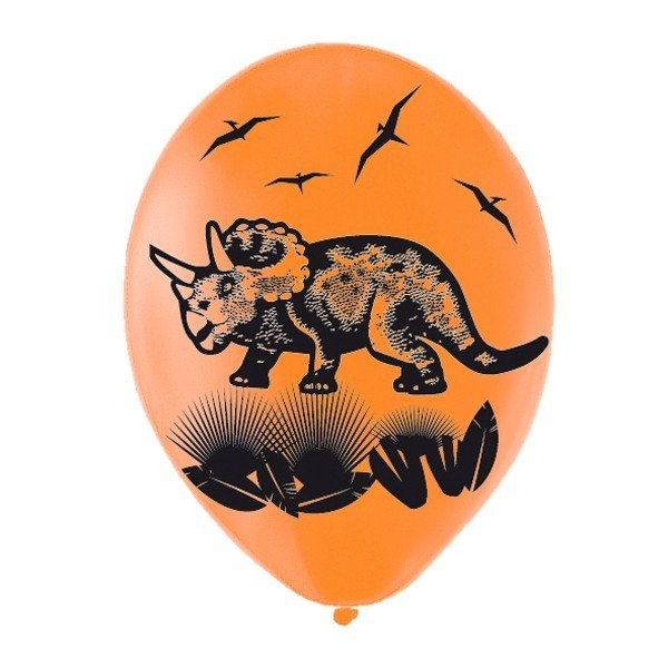 Amscan Prehistoric Party Latex Balloons - Assorted