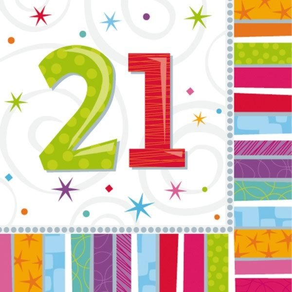 Amscan Radiant Birthday Napkins - 21