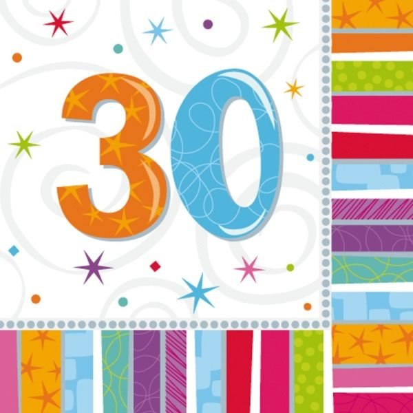Amscan Radiant Birthday Napkins - 30