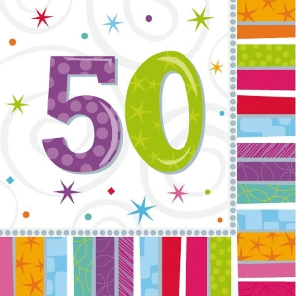 Amscan Radiant Birthday Napkins - 50
