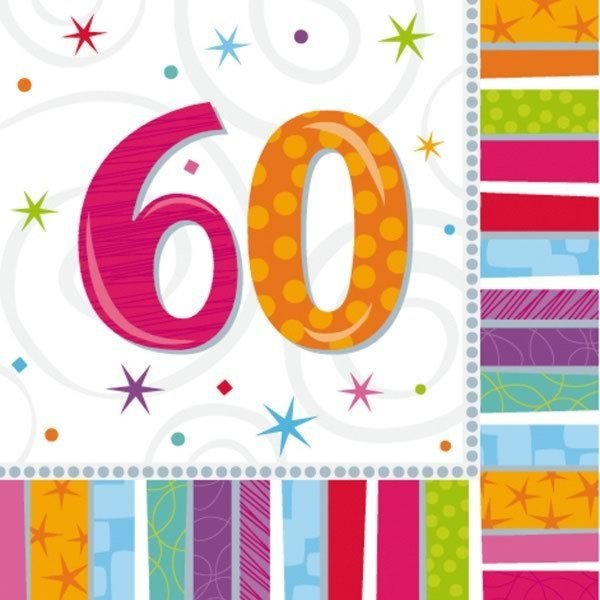 Amscan Radiant Birthday Napkins - 60