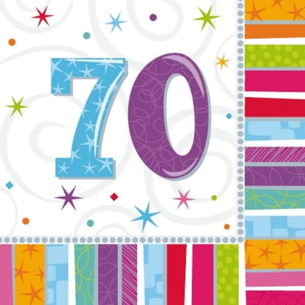 Amscan Radiant Birthday Napkins - 70