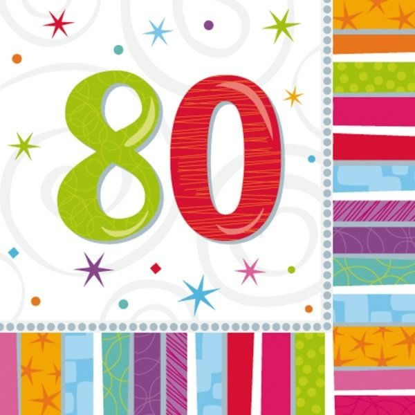Amscan Radiant Birthday Napkins - 80