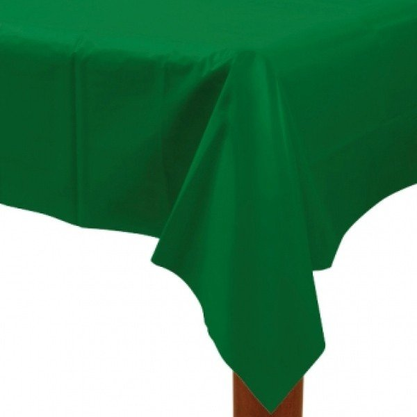 Amscan Rectangular Plastic Tablecover - Festive Green