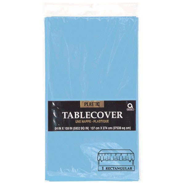 Amscan Rectangular Plastic Tablecover - Powder Blue