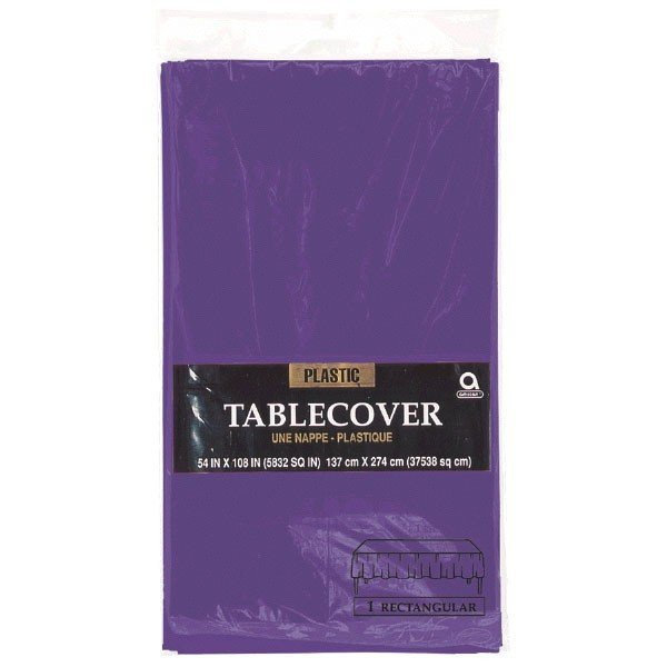 Amscan Rectangular Plastic Tablecover - Purple