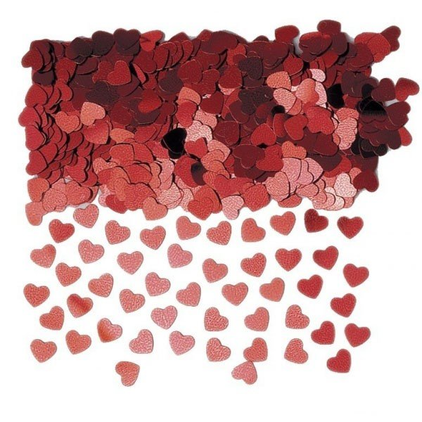 Amscan Sparkle Hearts Confetti - Red