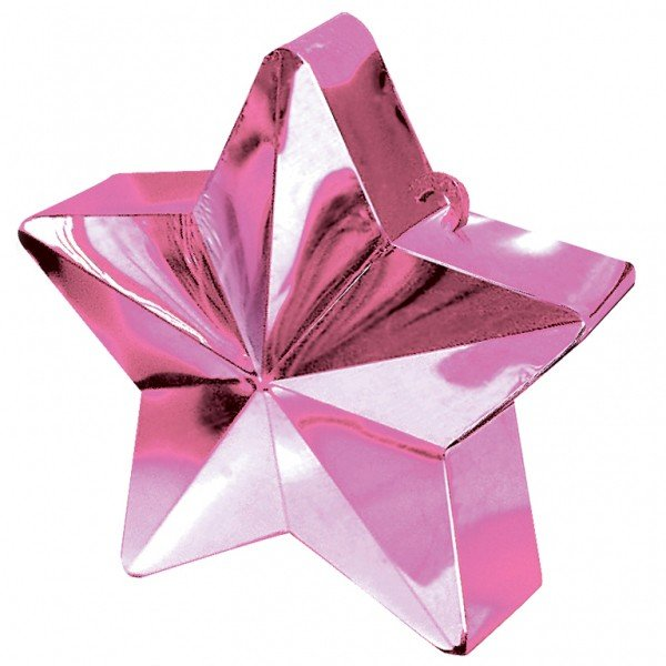 Amscan Star Balloon Weight - Pink