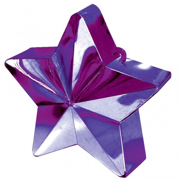 Amscan Star Balloon Weight - Purple