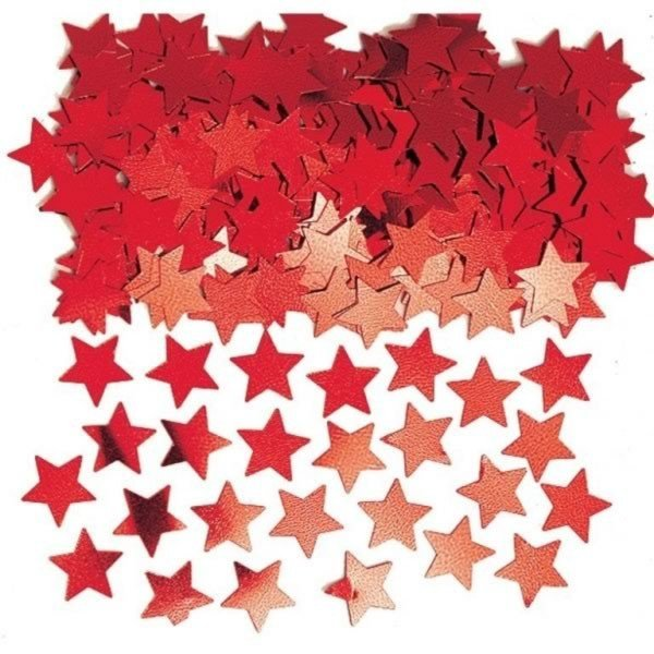 Amscan Stardust Confetti - Red