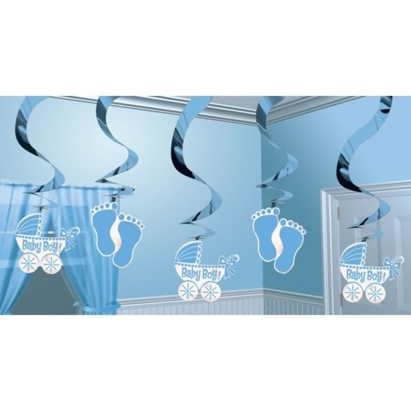 Amscan Swirl Decoration - Baby Boy