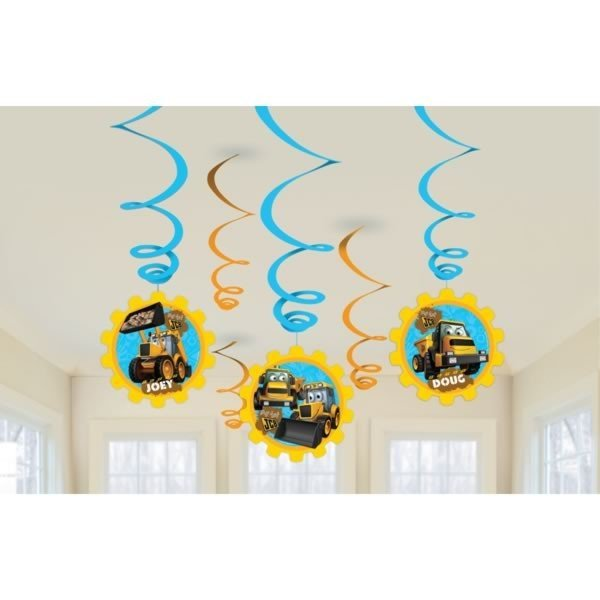 Amscan Swirl Decorations - My 1st JCB
