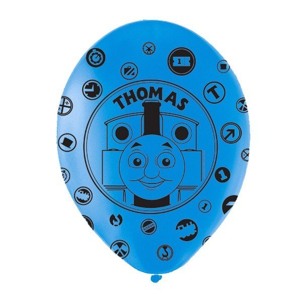 Amscan Thomas Tank Balloon All-Over Latex Balloons - Blue