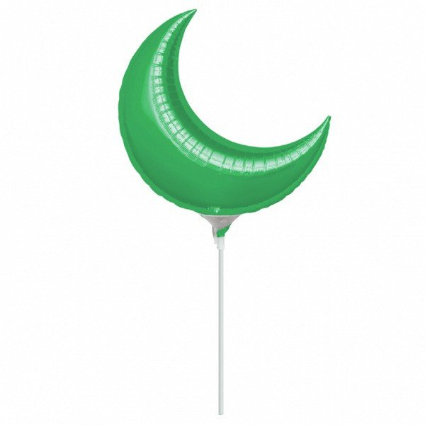 Anagram 10 Inch Crescent Foil Balloon - Green