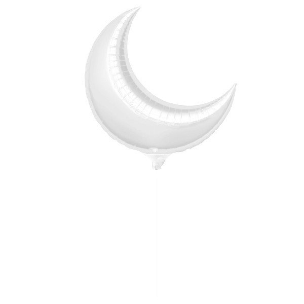 Anagram 10 Inch Crescent Foil Balloon - Silver