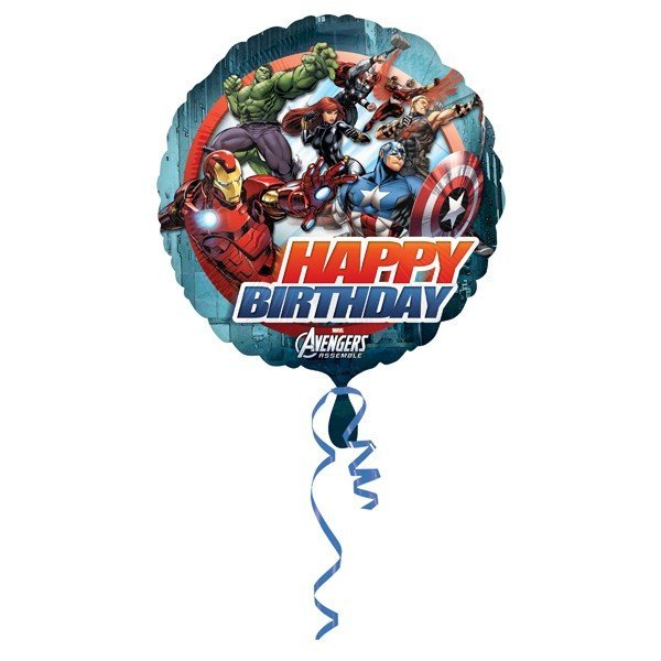 Anagram 18 Inch Circle Foil Balloon - Avengers Birthday