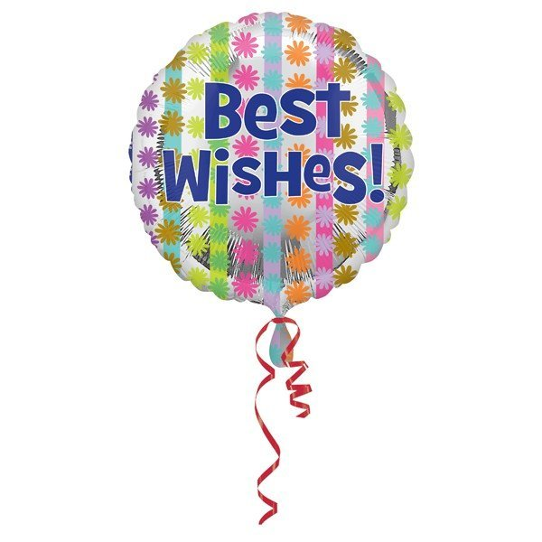 Anagram 18 Inch Circle Foil Balloon - Bright Best Wishes