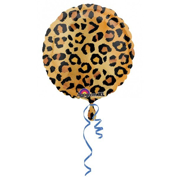 Anagram 18 Inch Circle Foil Balloon - Cheetah