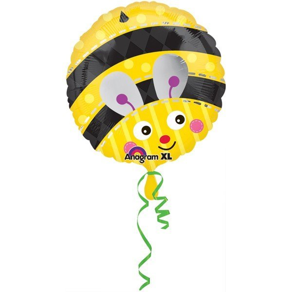 Anagram 18 Inch Circle Foil Balloon - Cute Bumble Bee