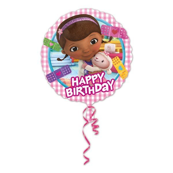 Anagram 18 Inch Circle Foil Balloon - Doc McStuffin Happy Birthday