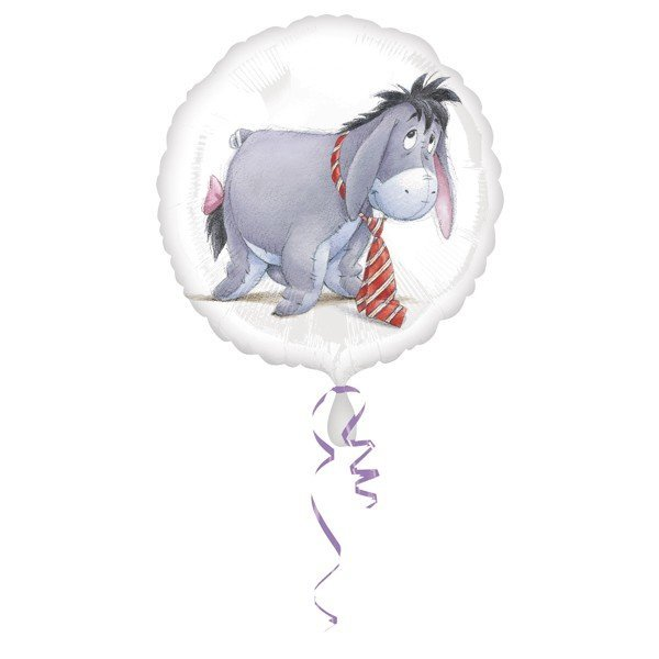 Anagram 18 Inch Circle Foil Balloon - Eeyore With Tie