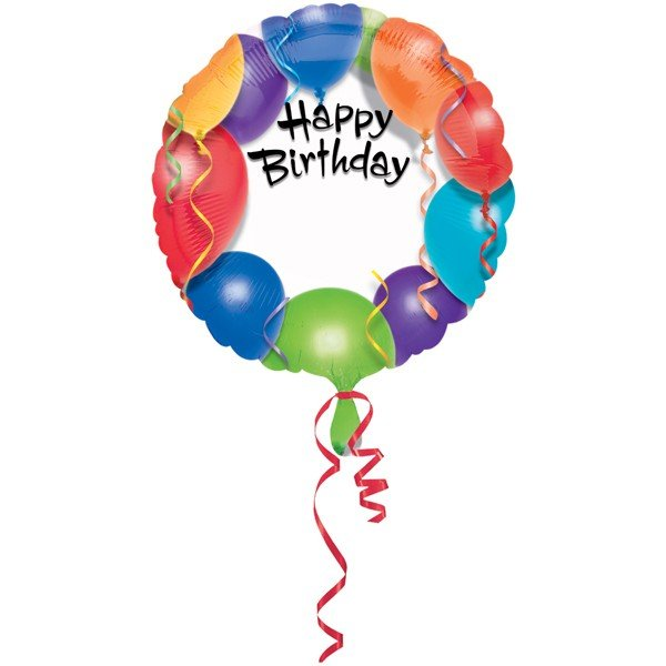 Anagram 18 Inch Circle Foil Balloon - Happy Birthday Personalized