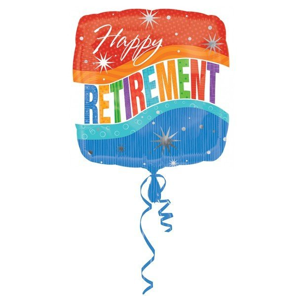 Anagram 18 Inch Circle Foil Balloon - Happy Retirement Sparkle