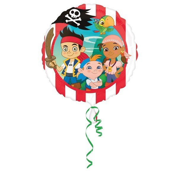 Anagram 18 Inch Circle Foil Balloon - Jake & NeverLand Pirates