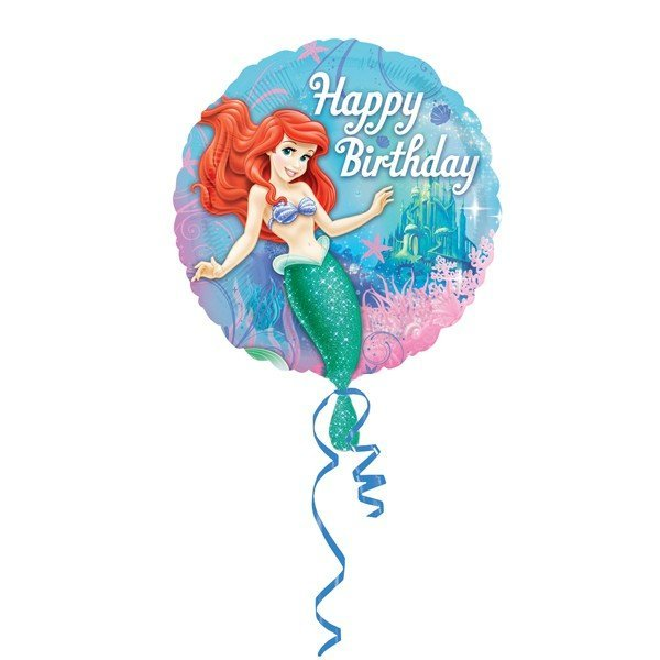 Anagram 18 Inch Circle Foil Balloon - Little Mermaid Birthday