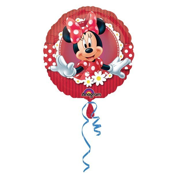 Anagram 18 Inch Circle Foil Balloon - Mad About Minnie