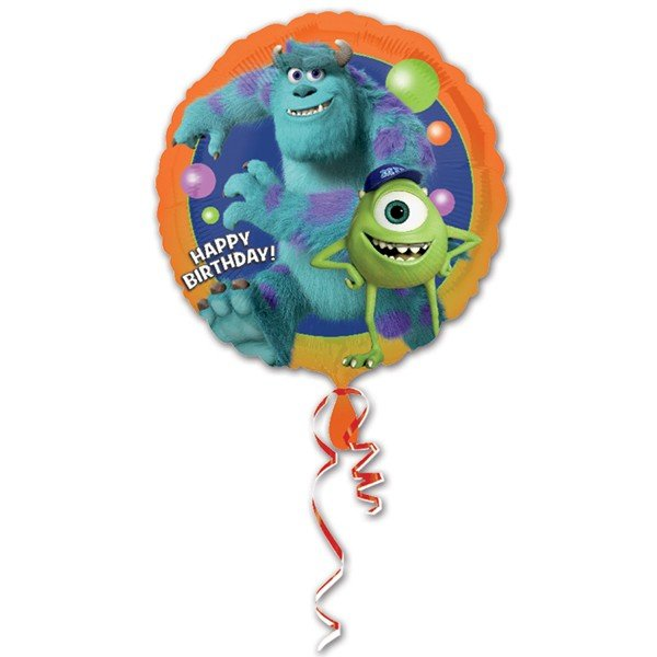 Anagram 18 Inch Circle Foil Balloon - Monsters University Birthday