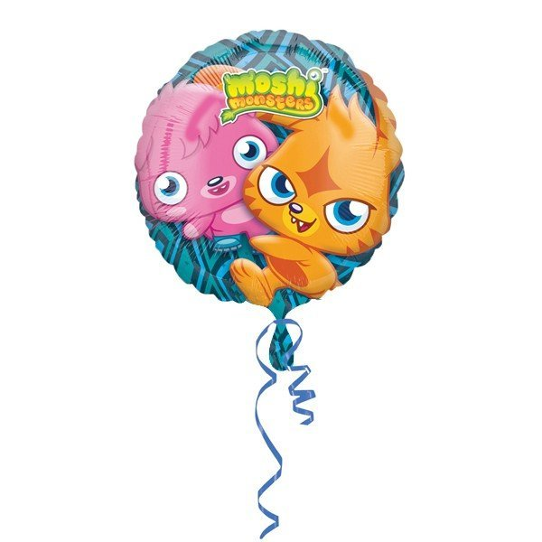 Anagram 18 Inch Circle Foil Balloon - Moshi Monsters Non Mess