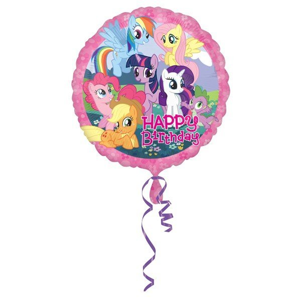 Anagram 18 Inch Circle Foil Balloon - My Little Pony Happy Birthday
