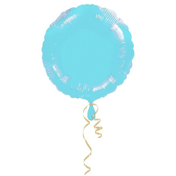 Anagram 18 Inch Circle Foil Balloon - Pastle Blue/Pastle Blue