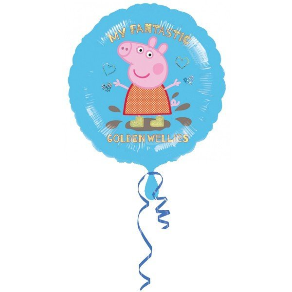Anagram 18 Inch Circle Foil Balloon - Peppa Pig Golden Boots Holo