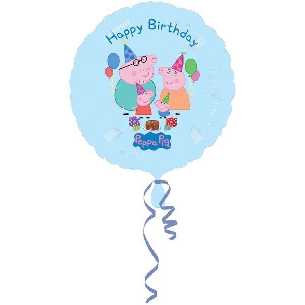 Anagram 18 Inch Circle Foil Balloon - Peppa Pig Happy Birthday