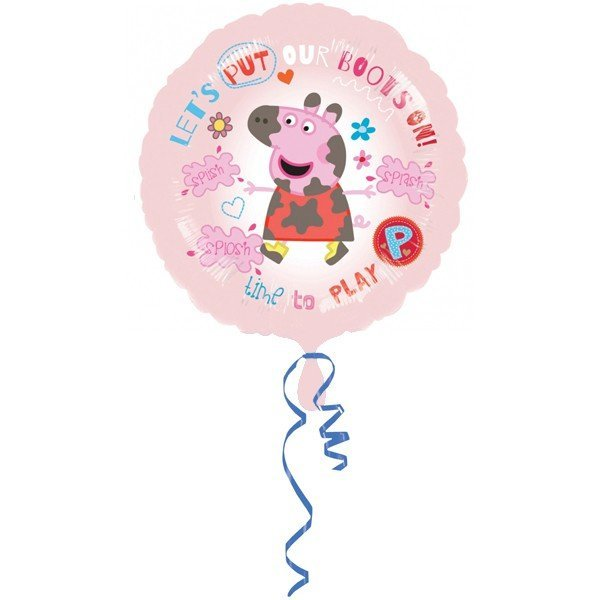 Anagram 18 Inch Circle Foil Balloon - Peppa Pig Time To Play