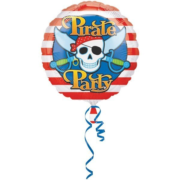 Anagram 18 Inch Circle Foil Balloon - Pirate Party