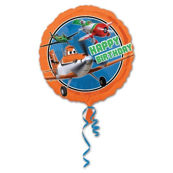 Anagram 18 Inch Circle Foil Balloon - Planes Happy Birthday