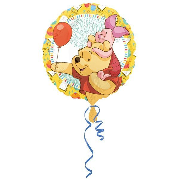Anagram 18 Inch Circle Foil Balloon - Pooh & Piglet Celebrations