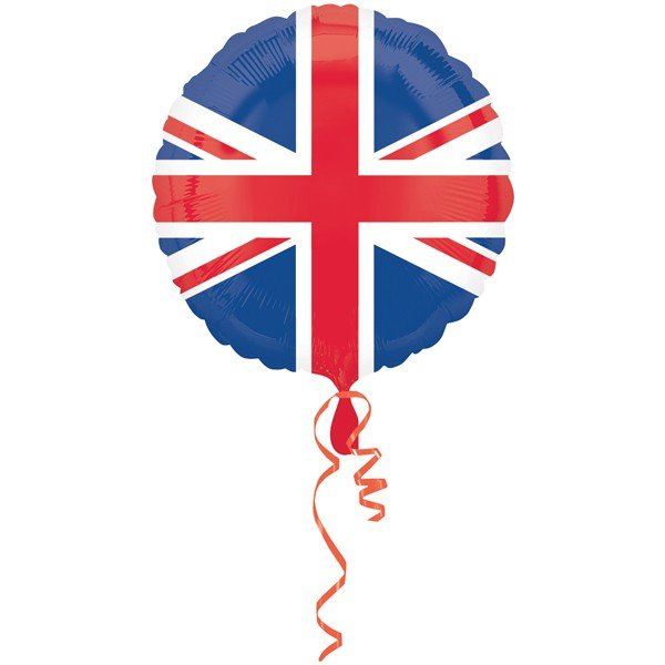 Anagram 18 Inch Circle Foil Balloon - Pride Passion Party Great Britain Flag