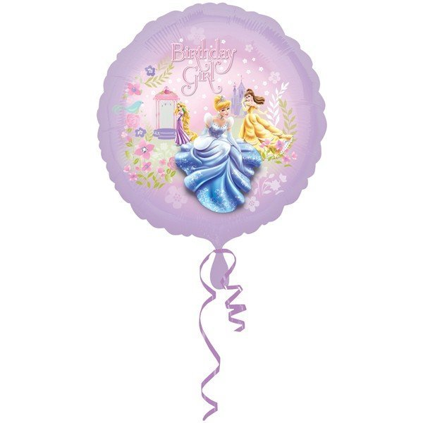 Anagram 18 Inch Circle Foil Balloon - Princess Birthday Girl